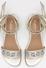 Sclarandis Viola Sandal in Mirrored Metallic