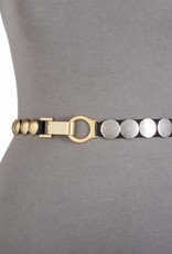 Suzie Roher Gold/Silver Disc Belt