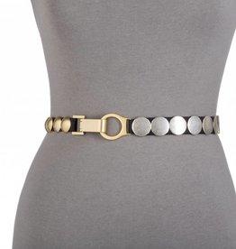 Suzie Roher Gold/Silver Disc Belt