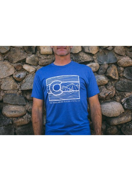 Trailhead Tri-Blend Crew Line Art Colorado Tee