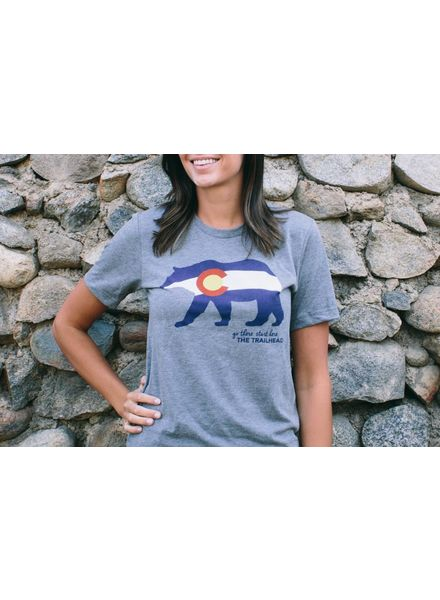 Trailhead Tri-Blend Crew Colorado Flag Bear Tee