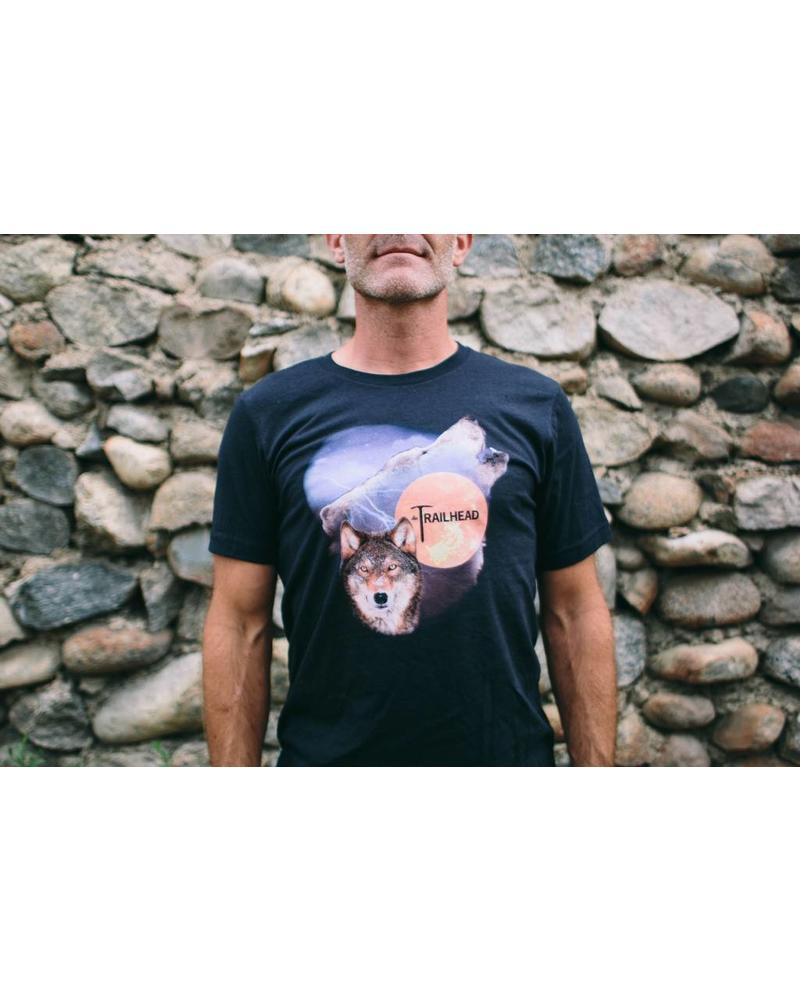 Trailhead Tri-Blend Crew Gas Station Wolf Tee