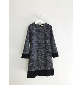 Bonsui Velvet Pleated Dress