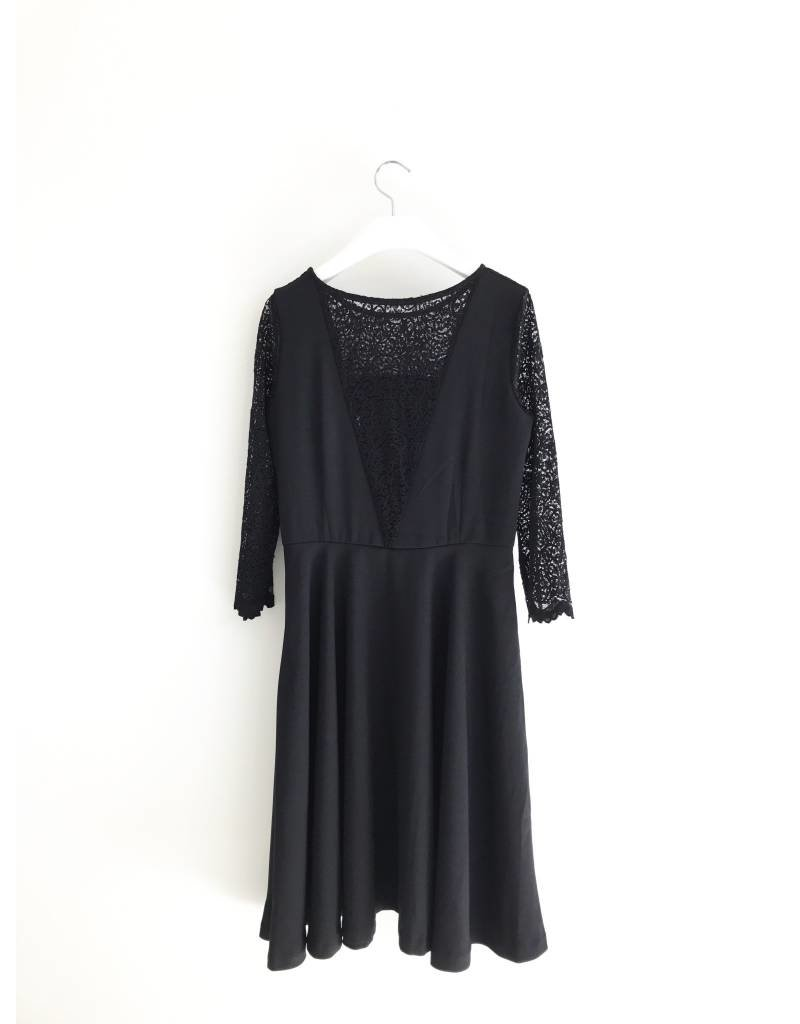 Bonsui Lace Inserted Skater Dress