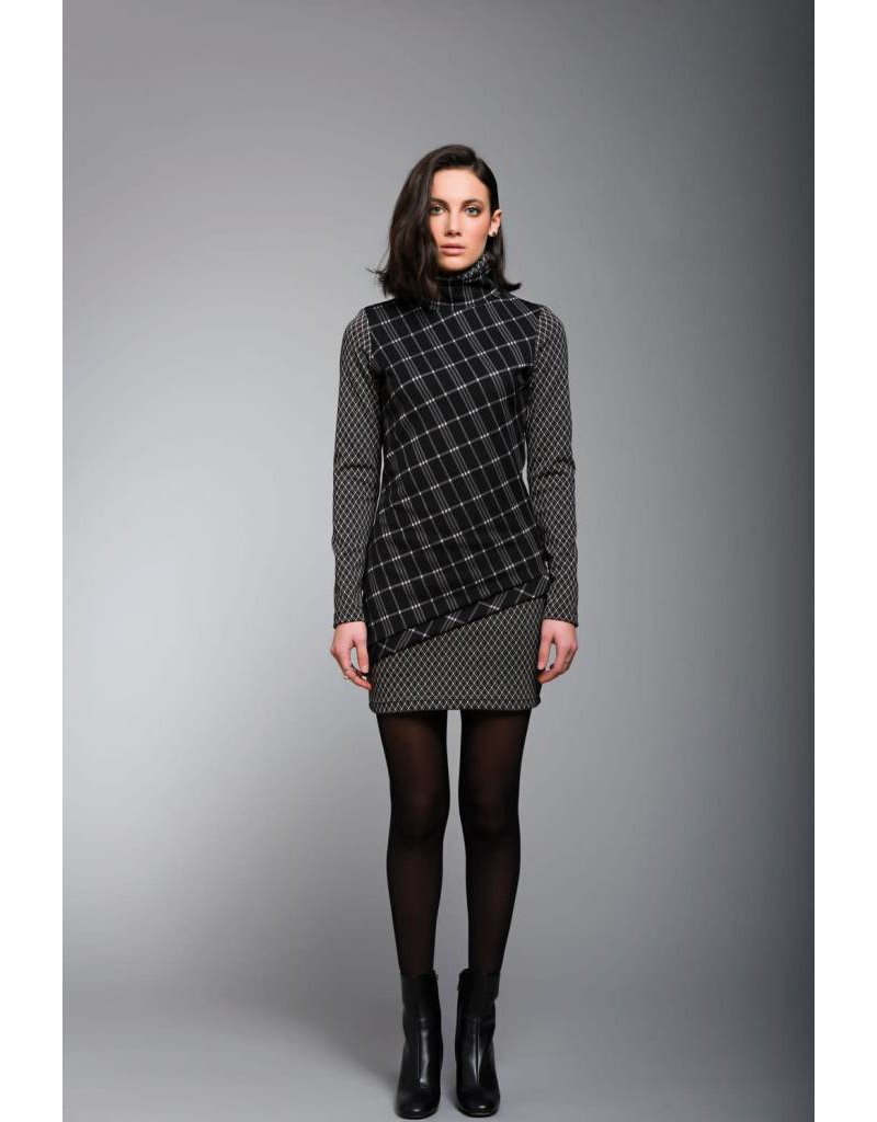 Ruelle City Checkered Dress