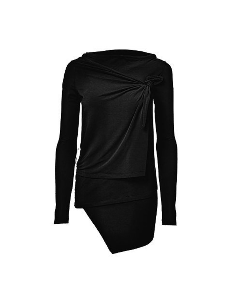 Melow Asymmetrical Top with Wraping Panel