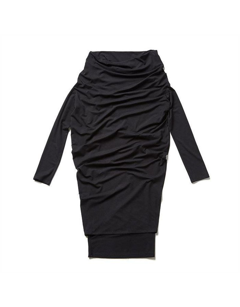 Melow Double Layered Dress with Draped Neck
