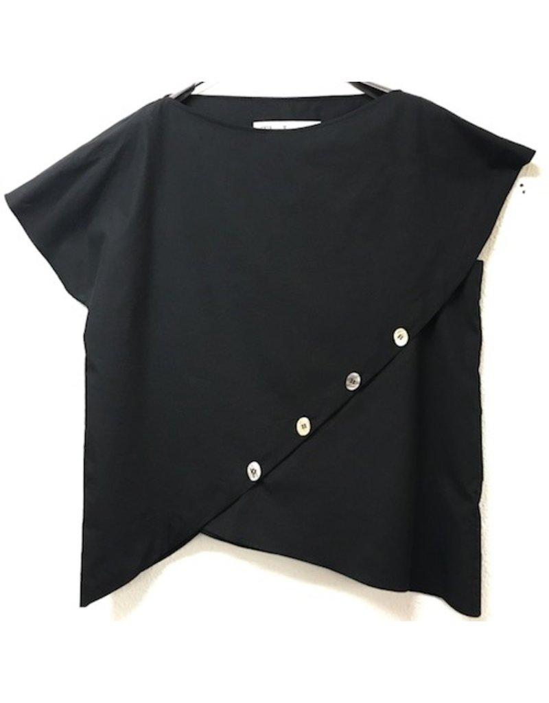TheLoom Button-Down Wrap Blouse