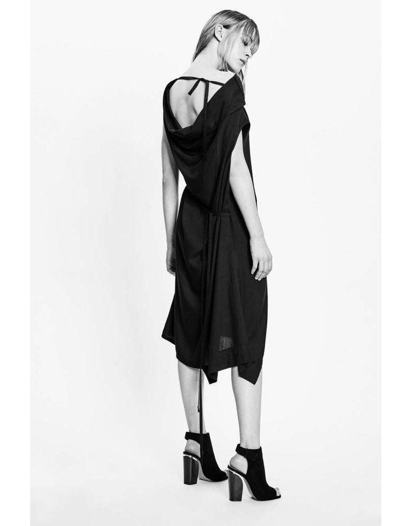 Studio Di Perla Asymmetric Shift Dress