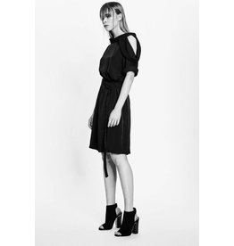 Studio Di Perla Cut Out Shoulder Dress