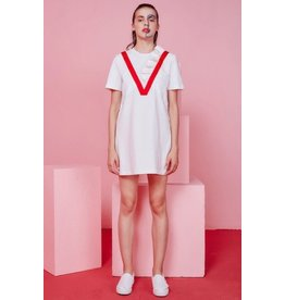 Eye of P Sequins and Ruffle Embelished Short Sleeve Dress