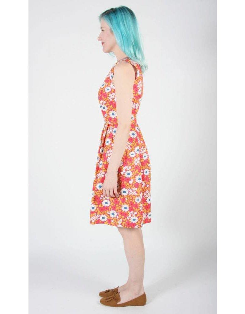 Birds of North America Peafowl Rosewood Daisy Dress