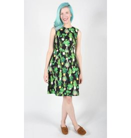 Birds of North America Peafowl Green Solarium Dress