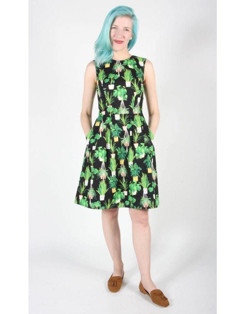 Birds of North America Peafowl Green Solarium Dress
