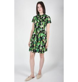 Birds of North America Ptarmigan Green Solarium Dress
