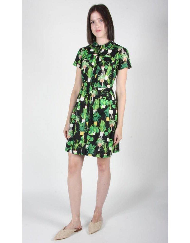 Birds of North America Ptarmigan Green Solarium Dress