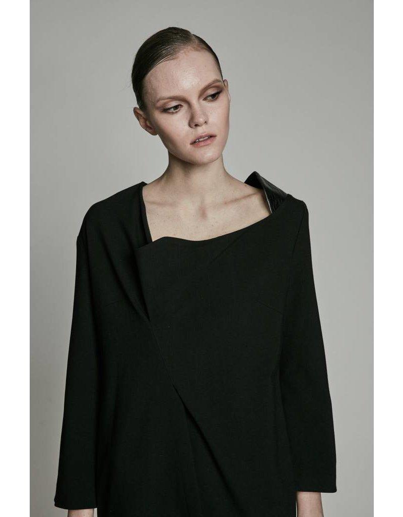 Studio Di Perla Side Pleat Mini Dress