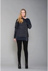 Ruelle Board Zipper Tweed Mini Dress