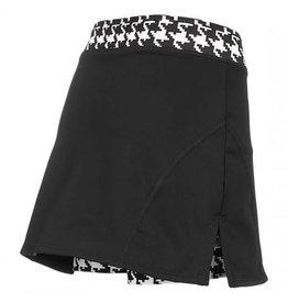 Shebeest Women's Cycloskort Skirt Hounds Tooth XLarge