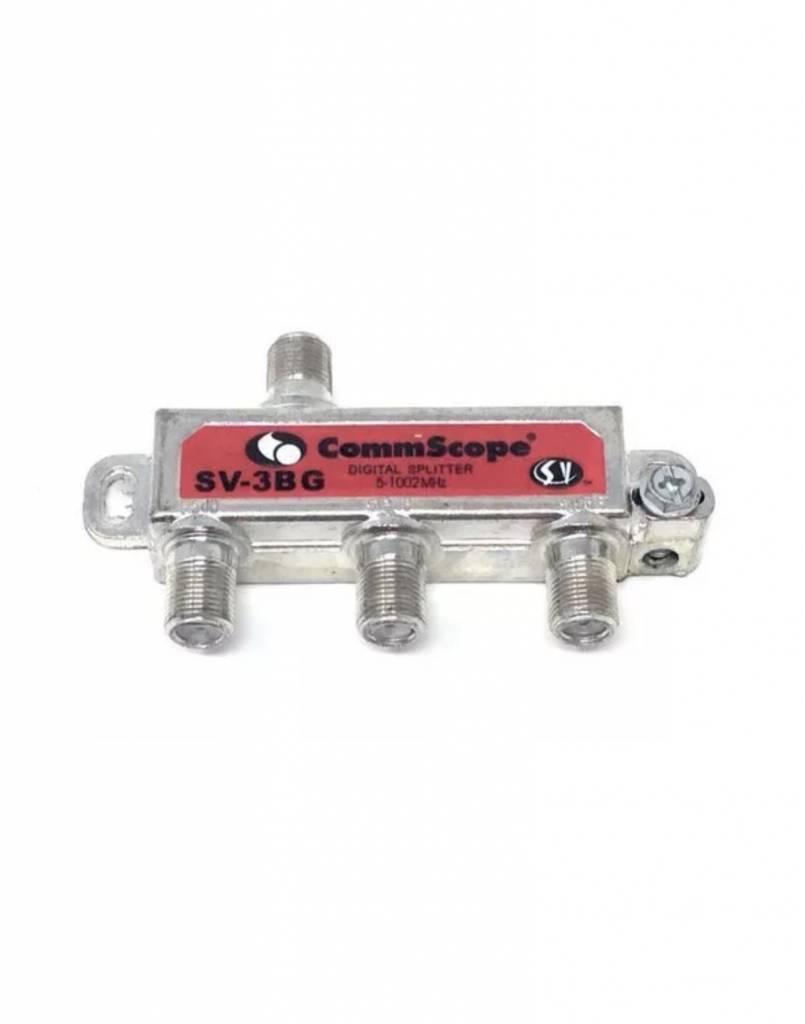 3 Way CommScope SVI Digital Coax Cable Splitter Signal Vision SV-3BG ...