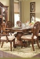 Endura 8 Chair Formal Dining Table Tommy Bahama Style Basket Weave Key West  Wood 8 Chairs