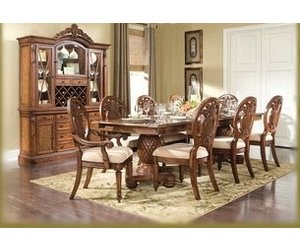 Endura 8 Chair Formal Dining Table Tommy Bahama Style Basket Weave Key West  Wood 8 Chairs 2 Leaves Beautiful Set   Outside The Box