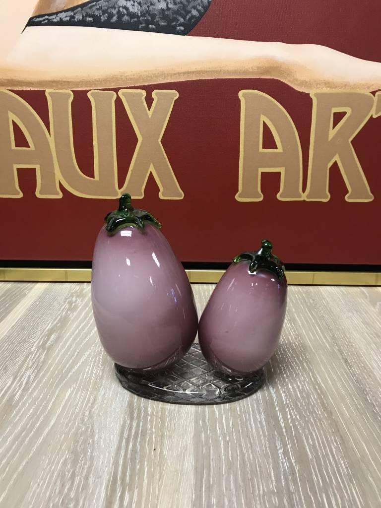 Nice Murano Hand Blown Glass Purple Eggplant Italian Style Kitchen Decoration  Decor ...
