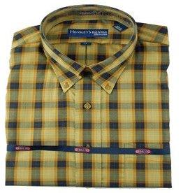 Hensley's Wrinkle Free Saddle Plaid Shirt