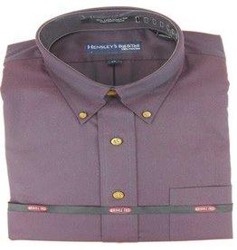 Hensley Hensley's Wrinkle Free Solid Purple Shirt