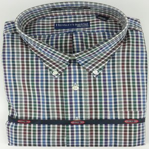 Hensley's LS Wrinkle Free Navy Multi Thick Check