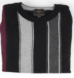 F/X Fusion FX Fusion LS Vertical Stripe Crew Neck Sweater