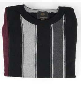 F/X Fusion FX Fusion LS Vertical Stripe Crew Neck Sweater