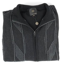 F/X Fusion FX Fusion Full Zip Contrast Cable Sweater