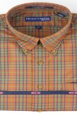 Hensley's Wrinkle Free Rust Micro Plaid Shirt