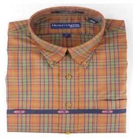 Hensley Hensley's Wrinkle Free Rust Micro Plaid Shirt