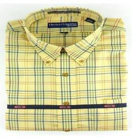 Hensley Hensley's Wrinkle Free Maize Multi Plaid Shirt