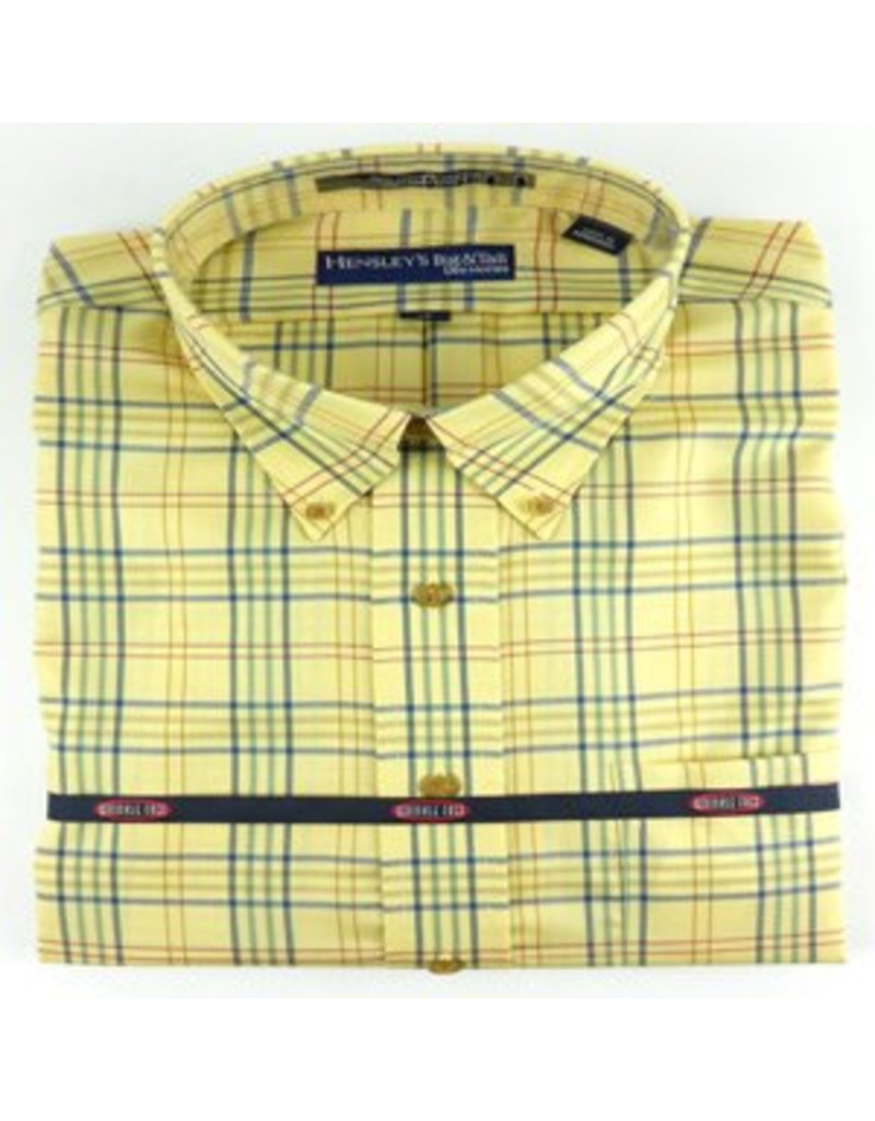 Hensley Hensley's Wrinkle Free Maize Multi Plaid Shirt