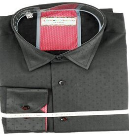 Luchiano Visconti Luchiano Visconti LS Black Solid Shirt