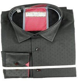 Luchiano Visconti Luchiano Visconti LS Black Solid Shirt