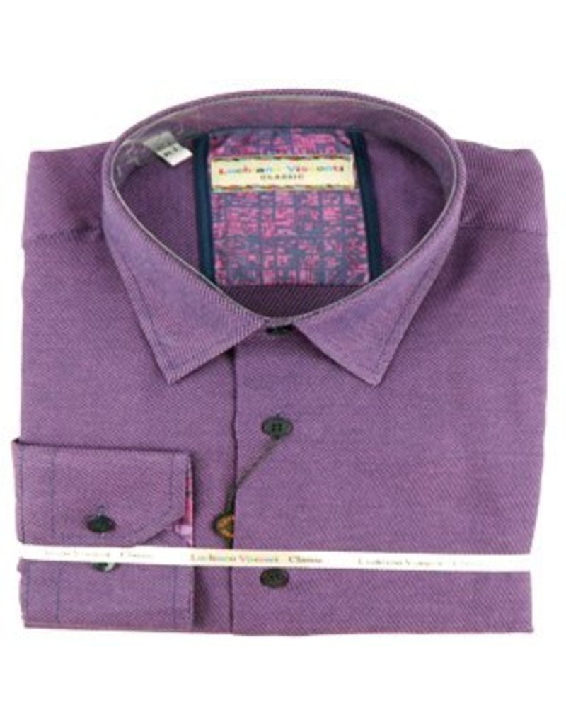 Luchiano Visconti Luchiano Visconti LS Plum Solid Shirt