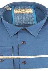 Luchiano Visconti Luchiano Visconti LS Teal Solid Shirt