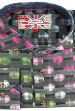 Eros Clothing Long Sleeve Black Multi Circle Shirt