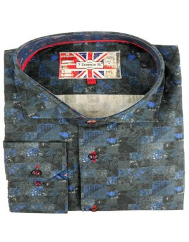 Eros Clothing Long Sleeve Navy/Black Swirl Shirt