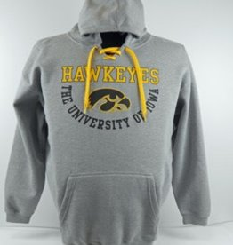 Iowa Hawkeye Gray Hooded Sweatshirt