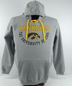 Iowa Hawkeye Gray Hooded Sweatshirt