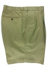 Cordovan Grey Pleated Cotton Shorts -Three Colors