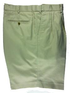 Cordovan Grey Pleated Cotton Shorts -Three Colors
