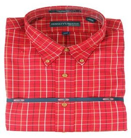 Hensley Hensley's Wrinkle Free Red Plaid Shirt