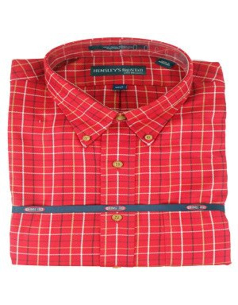 Hensley Hensley's Wrinkle Free Red Plaid Shirt