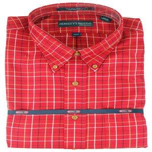 Hensley's Wrinkle Free Red Plaid Shirt